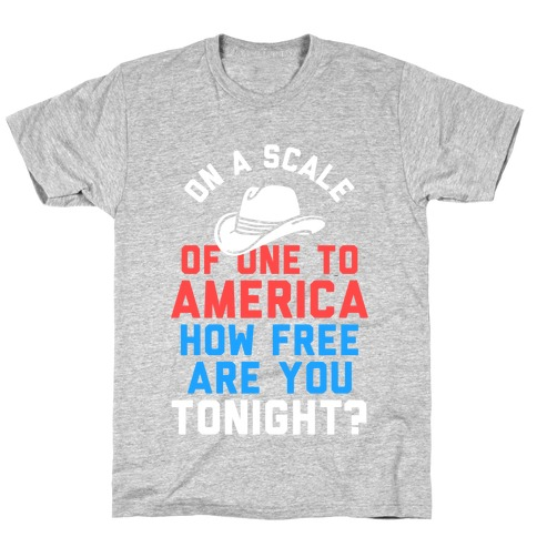 On a Scale of One To America (Dark Tank) T-Shirt