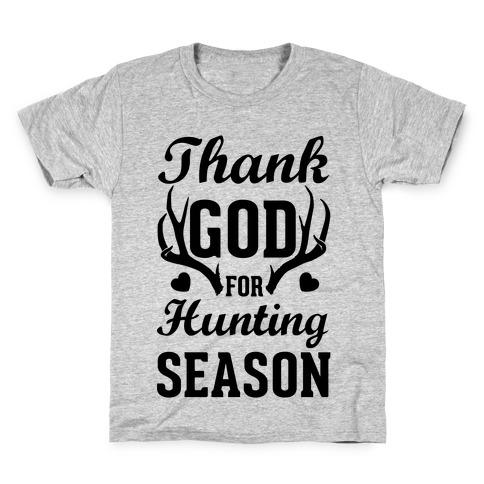 Thank God For Hunting Season Kids T-Shirt