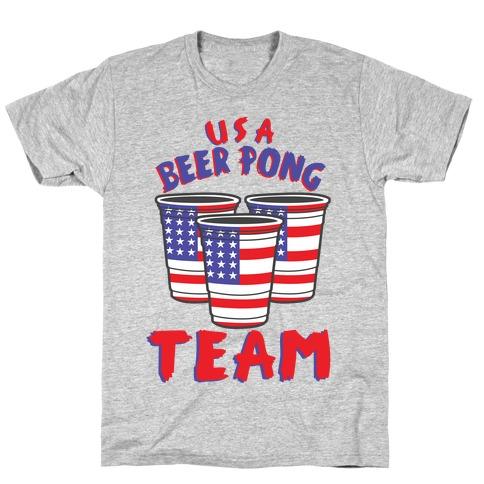 USA Beer Pong Team T-Shirt