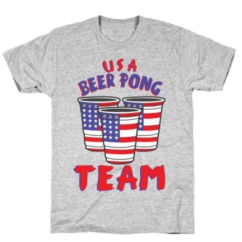 USA Beer Pong Team T-Shirt