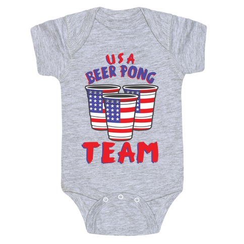 USA Beer Pong Team Baby Onesy