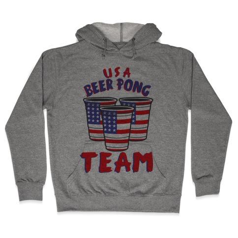 USA Beer Pong Team Hooded Sweatshirt