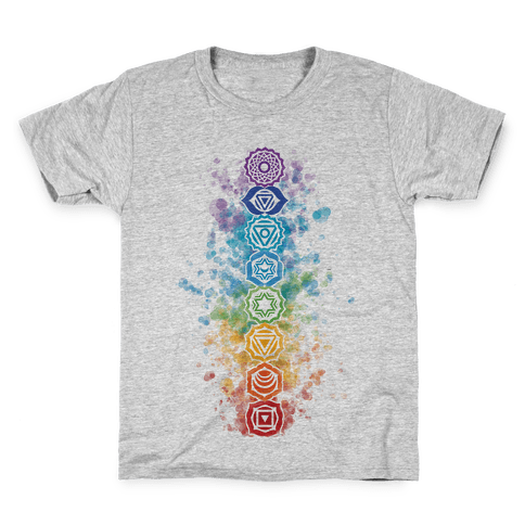 Watercolor Chakra Symbols Kids T-Shirt