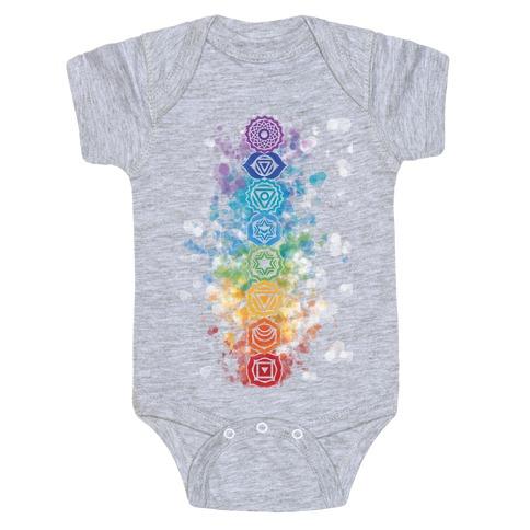 Watercolor Chakra Symbols Baby Onesy