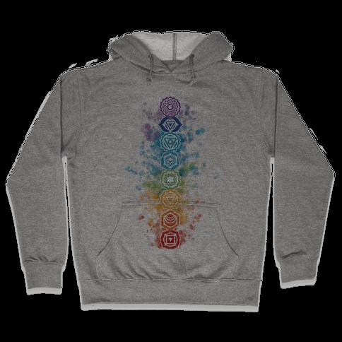 Watercolor Chakra Symbols Hooded Sweatshirt