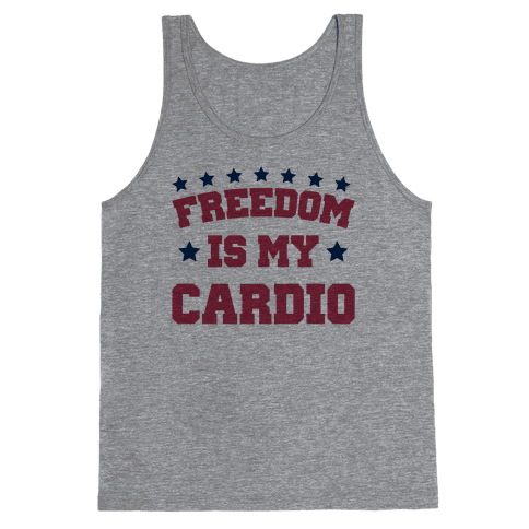 Freedom Is My Cardio Tank Top