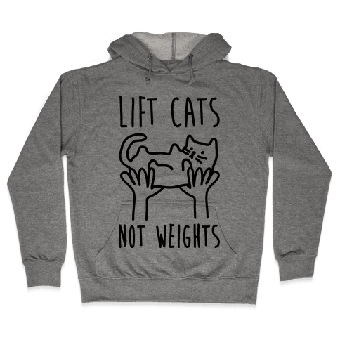 Lift Cats Not Weights Hooded Sweatshirt