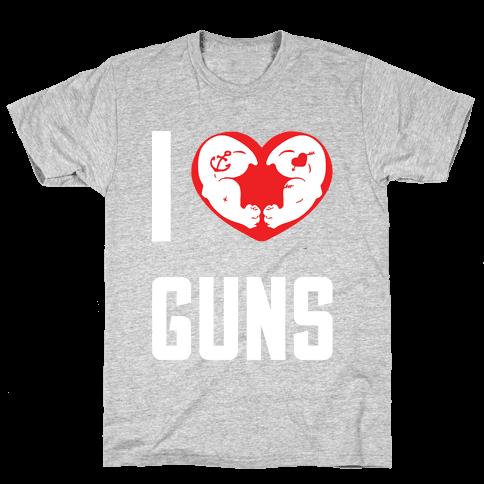 I Heart Guns Mens T-Shirt