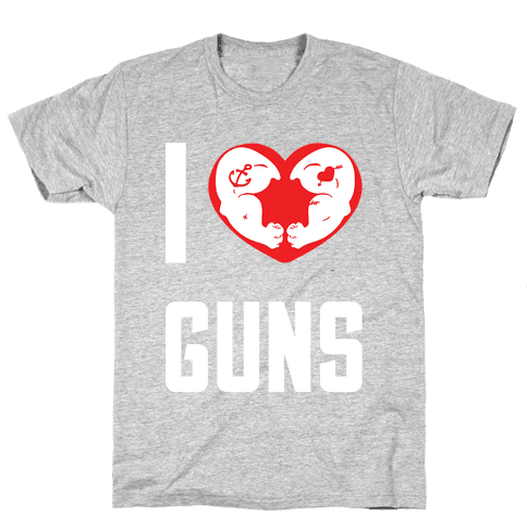 I Heart Guns Mens T-Shirt