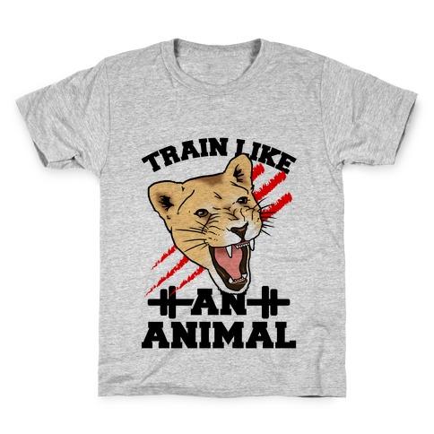 Train Like an Animal (athletic) Kids T-Shirt