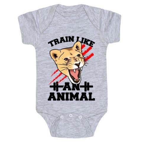 Train Like an Animal (athletic) Baby Onesy