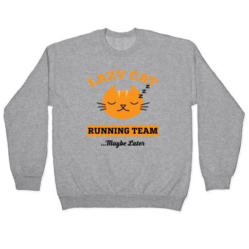 Lazy Cat Running Team Pullover