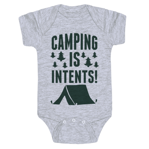 Camping Is Intents! (Green) Baby Onesy