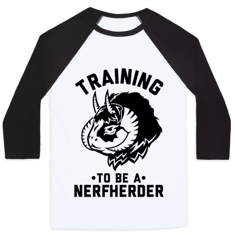 Training to Be A Nerfherder Baseball Tee