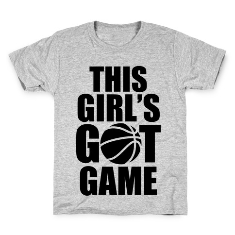 This Girl's Got Game (Basketball) Kids T-Shirt
