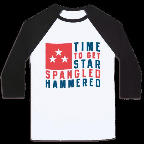 Star Spangled Hammered Baseball Tee