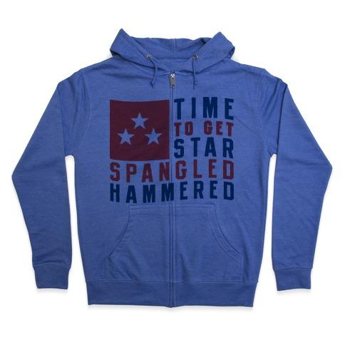 Star Spangled Hammered Zip Hoodie