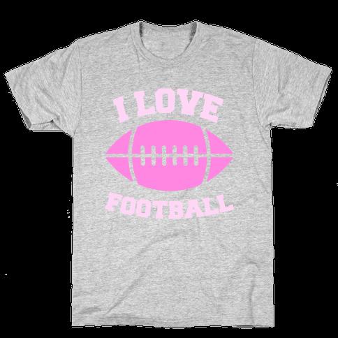 I Love Football Mens T-Shirt