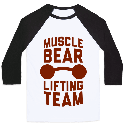 Musclebear Lifting Team Baseball Tee