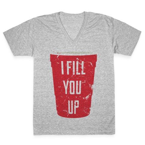 I Fill You Up V-Neck Tee Shirt