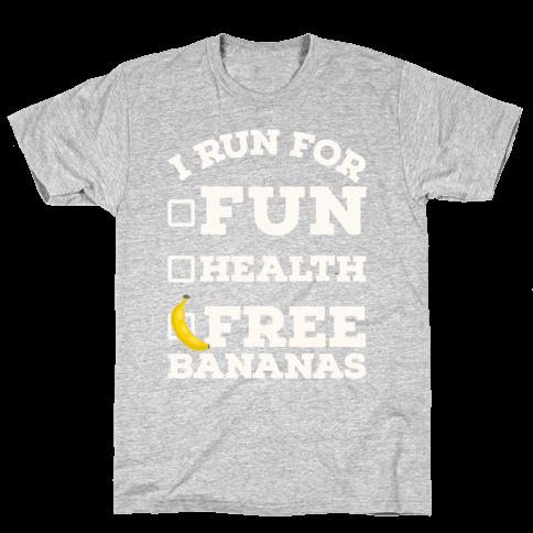 I Run For Free Bananas Mens T-Shirt