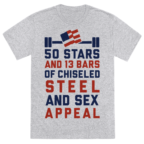 50 Stars and 13 Bars of Chiseled Steel and Sex Appeal