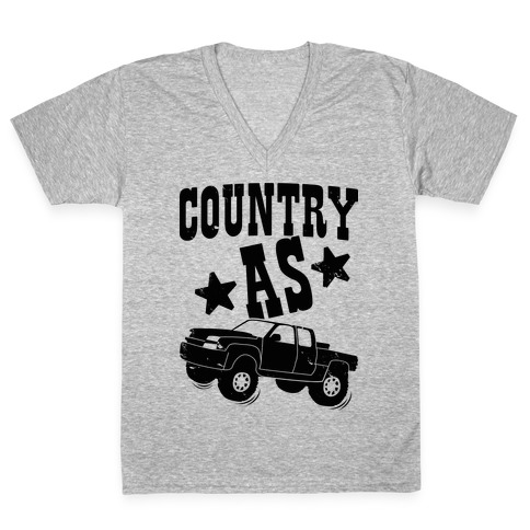 Country as Truck V-Neck Tee Shirt