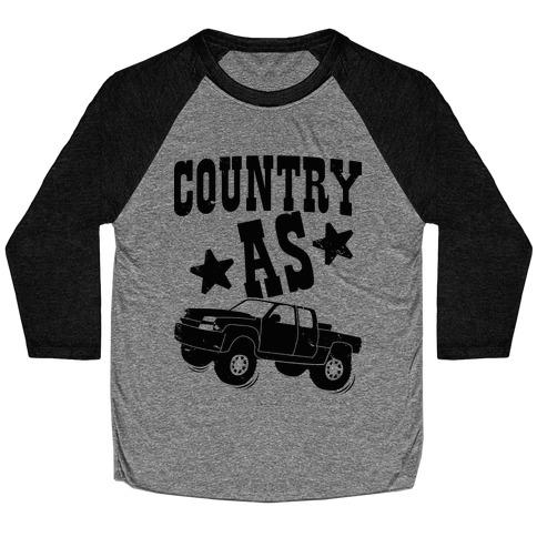 Country as Truck Baseball Tee