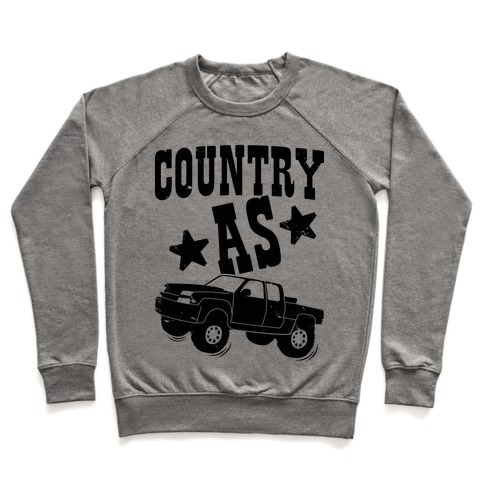Country as Truck Pullover