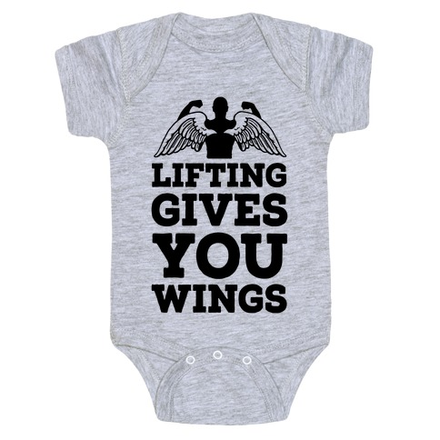 Lifting Gives You Wings Baby Onesy