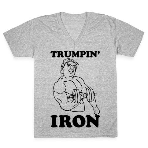 Trumpin' Iron V-Neck Tee Shirt