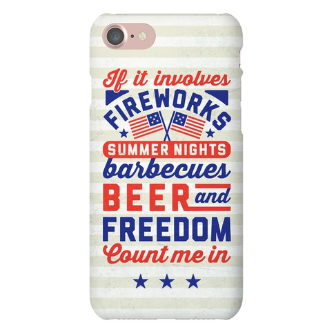 If It Involves Fireworks Count Me In Phone Case
