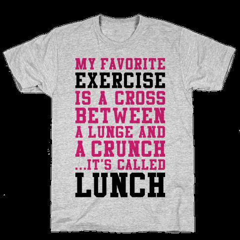 Lunge Crunch Lunch Mens T-Shirt