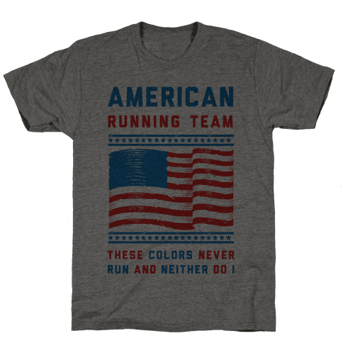 American Running Team These Colors Never Run And Neither Do I (Patriotic Tank)