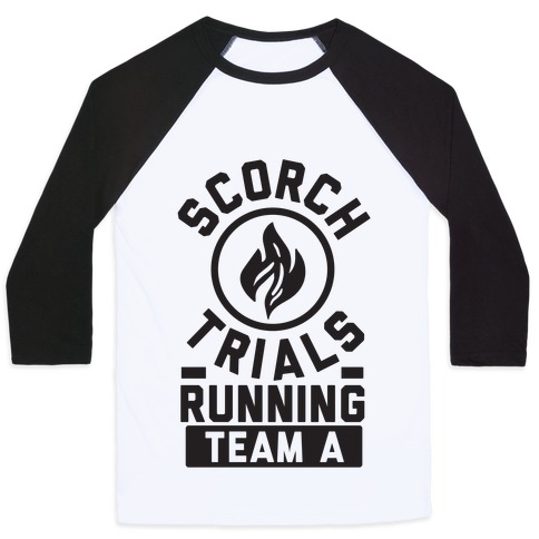 Scorch Trials Running Team A Baseball Tee