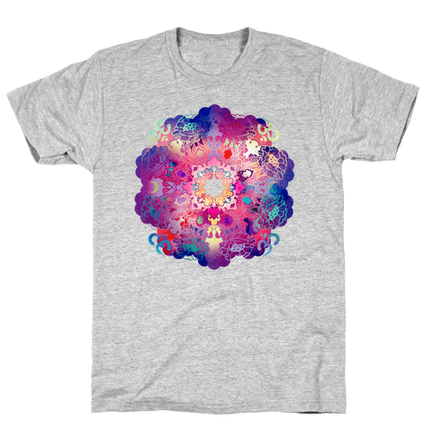 Colorful Yoga Tee Mens T-Shirt