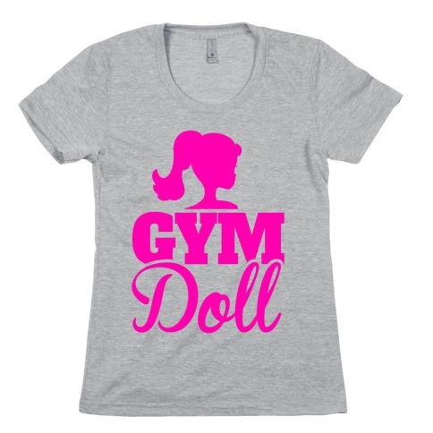 Gym Doll Womens T-Shirt