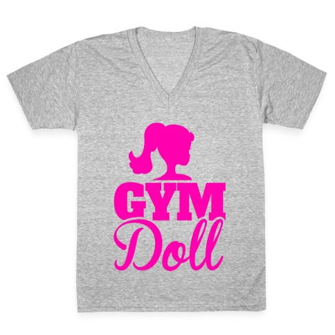 Gym Doll V-Neck Tee Shirt