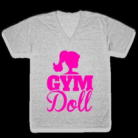 Gym Doll V-Neck Tee Shirt