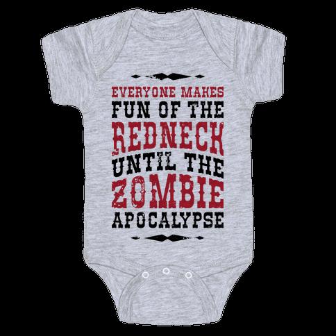 Redneck Zombie Killer Baby Onesy