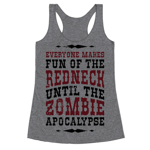 Redneck Zombie Killer Racerback Tank Top
