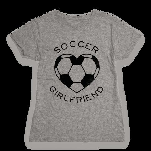 Soccer Girlfriend (Baseball Tee) Womens T-Shirt