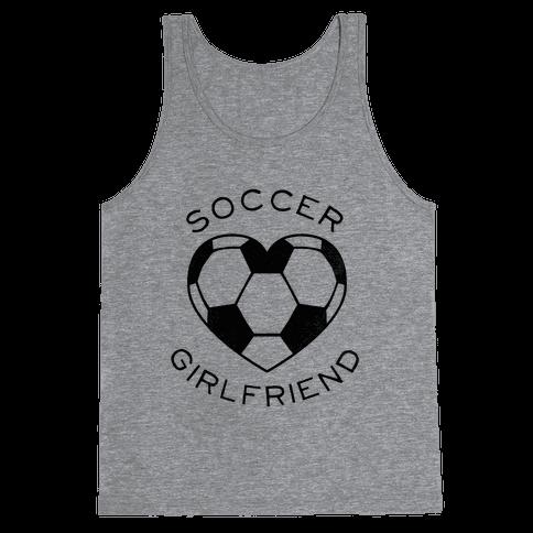 Soccer Girlfriend (Baseball Tee) Tank Top