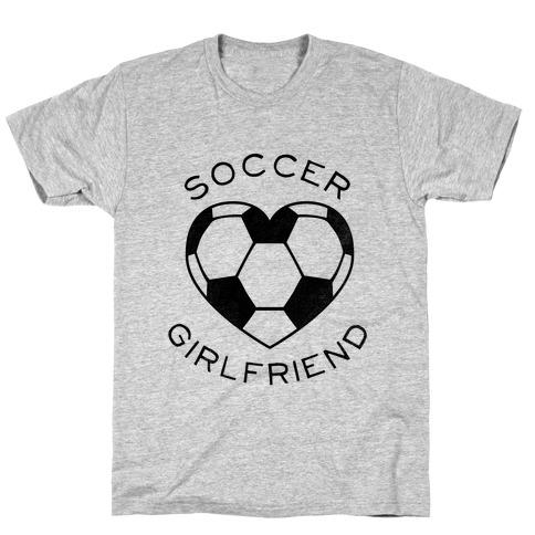 Soccer Girlfriend (Baseball Tee) Mens T-Shirt