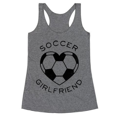 Soccer Girlfriend (Baseball Tee) Racerback Tank Top