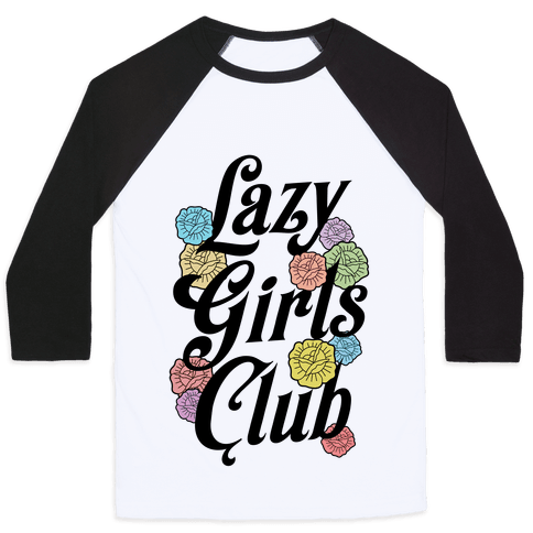 Lazy Girls Club Baseball Tee