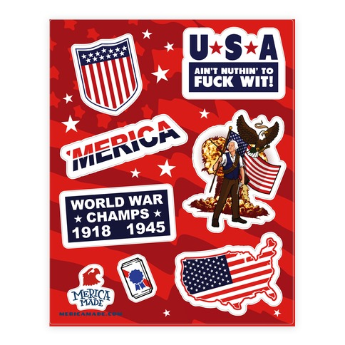 Epic American Sticker/Decal Sheet