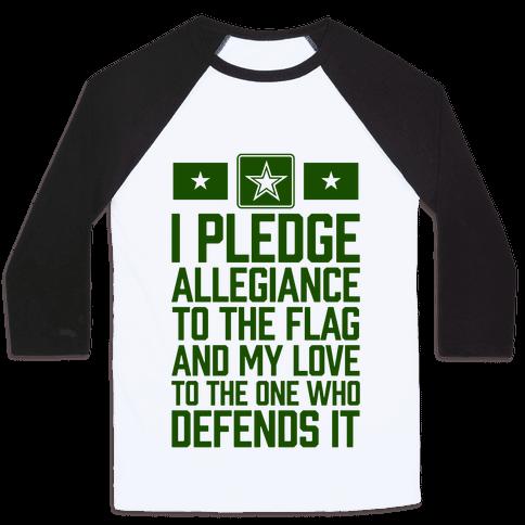 I Pledge Allegiance To The Flag (Army Tank) Baseball Tee