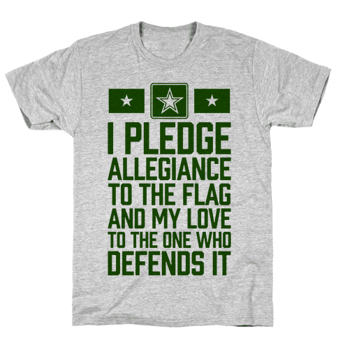 I Pledge Allegiance To The Flag (Army Tank) Mens/Unisex T-Shirt