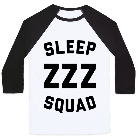 Sleep ZZZ Squad Baseball Tee